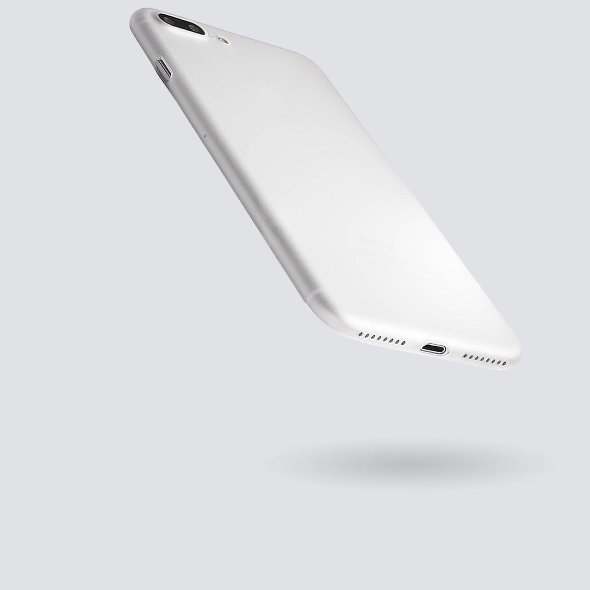 totallee's no bulk, ultra thin iphone case hovering in the air
