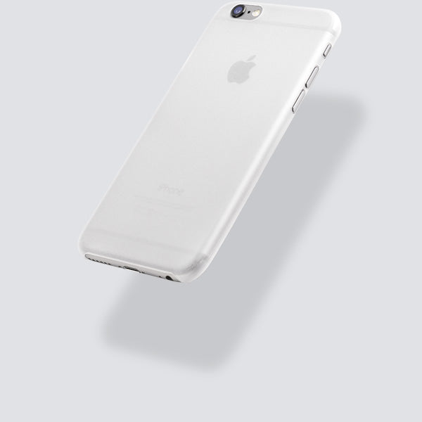 totallee's white thin iPhone case, the scarf, suspended in mid-air.