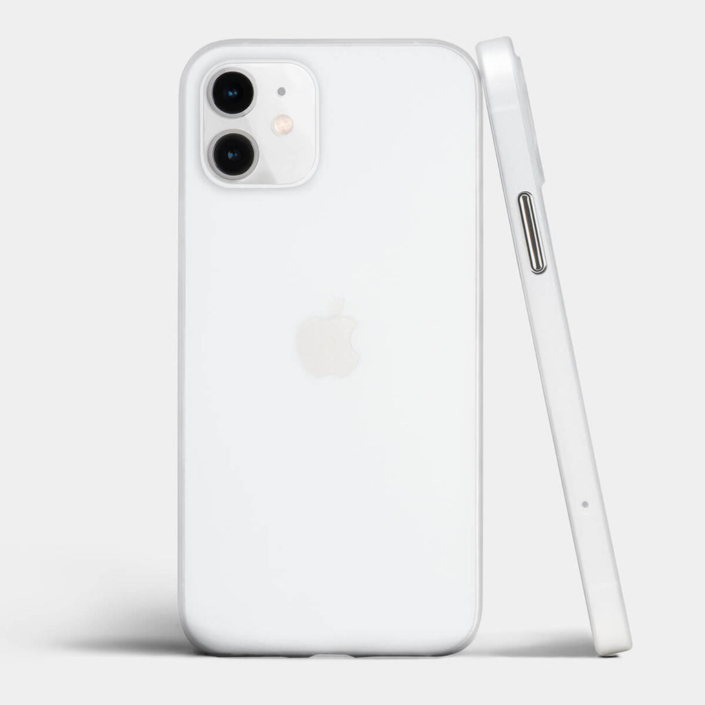 Ultra thin iPhone 12 case by totallee, Frosted clear