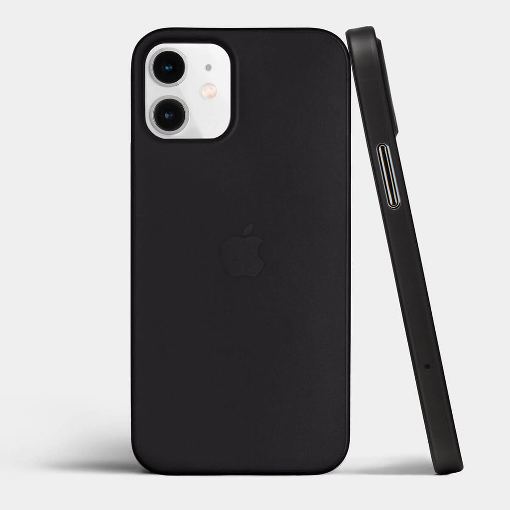 Ultra thin iPhone 12 mini case by totallee, Frosted black