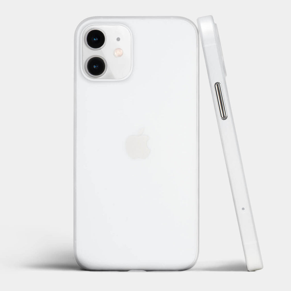 Ultra thin iPhone 12 mini case by totallee, Frosted clear