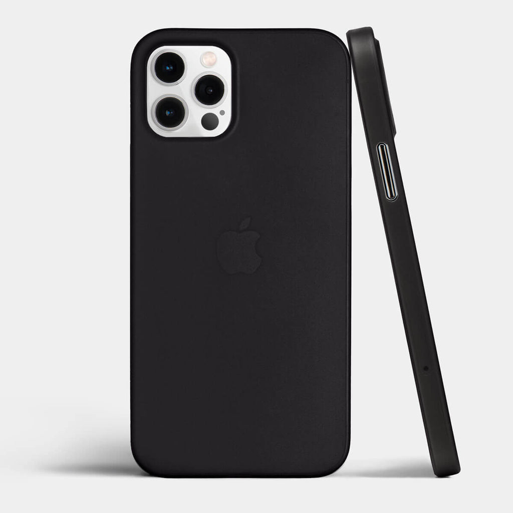 Ultra thin iPhone 12 pro case by totallee, Frosted black