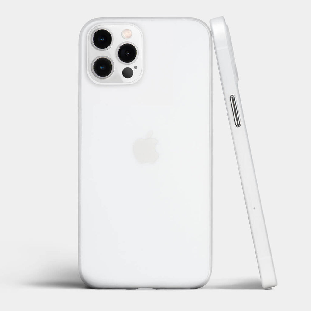 Ultra thin iPhone 12 Pro max case by totallee, Frosted clear