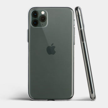 Ultra thin iPhone 11 Pro Max case by totallee, Clear (Soft)