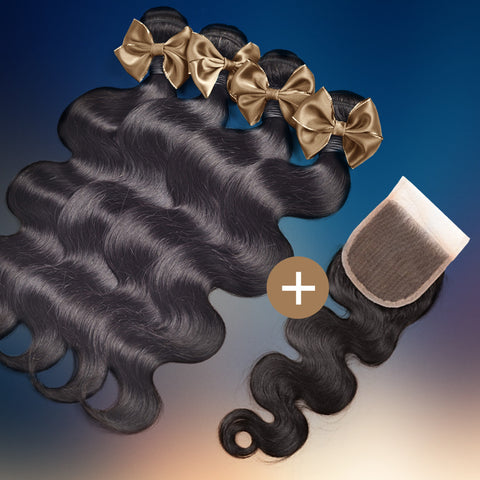 Body Wave Silk Closure & Bundle