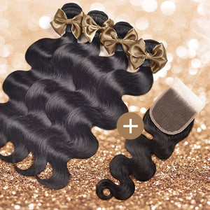 Body Wave Lace Closure & Bundle