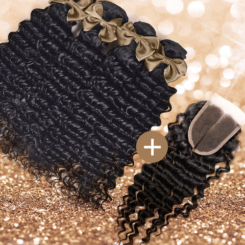 Deep Wave Lace Closure & Bundle