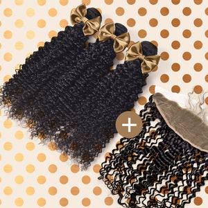 Kinky Curly Frontal & Bundle