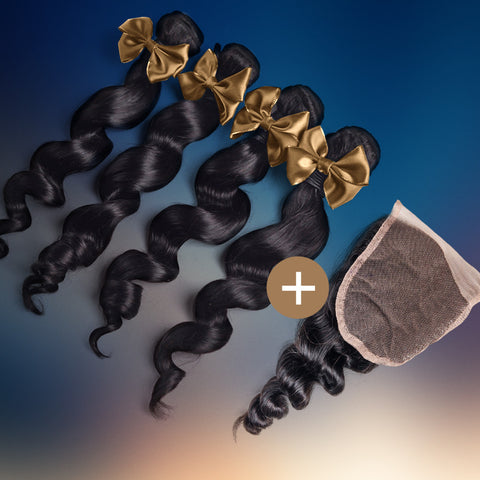 Loose Wave Silk Closure & Bundle