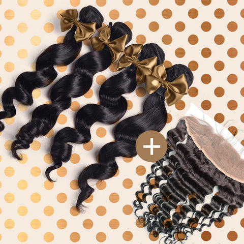 Loose Wave Frontal & Bundle