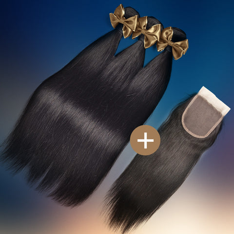 Straight Silk Closure & Bundle