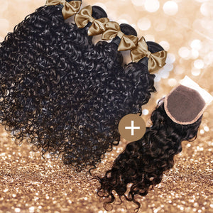 Water Wave Lace Closure & Bundle