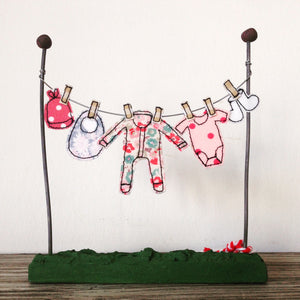 Baby Girl Washing Line Ornament