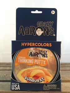 Sunburst Hyper Colour Putty - Aaron's Thinking Putty
