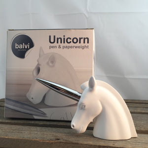 Unicorn Pen And Paperweight