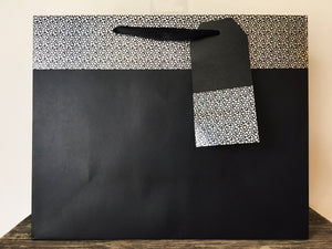 Black and Silver Large Gift Bag