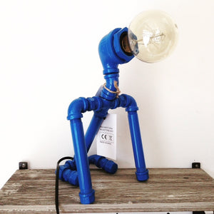 Robot Dog Lamp Blue
