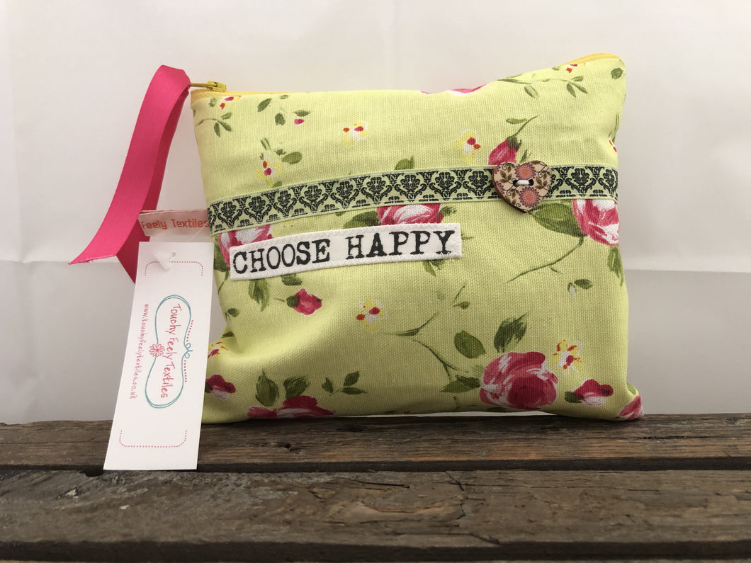 Choose Happy Pouch