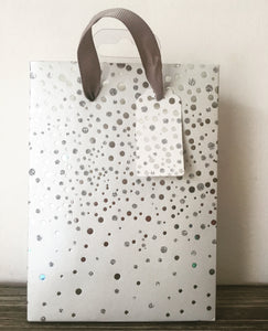 White Bag with Silver Sparkles Gift Bag