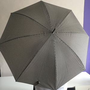 Light Grey and White Flowered Umbrella