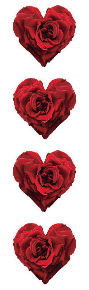 Mrs Grossman's Stickers - Red Rose HEART - Photos - Off The Wall Toys and Gifts