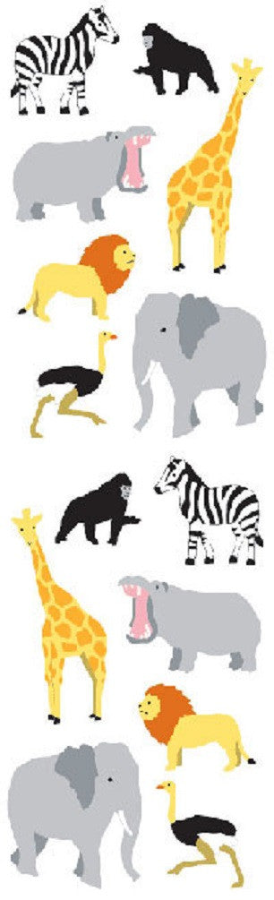 Full Roll - Mrs Grossman's Stickers - Wild Animals - Sm - Off The Wall Toys and Gifts