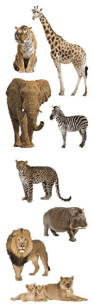 Mrs. Grossman's Stickers Wild Animals Full Roll - Off The Wall Toys and Gifts