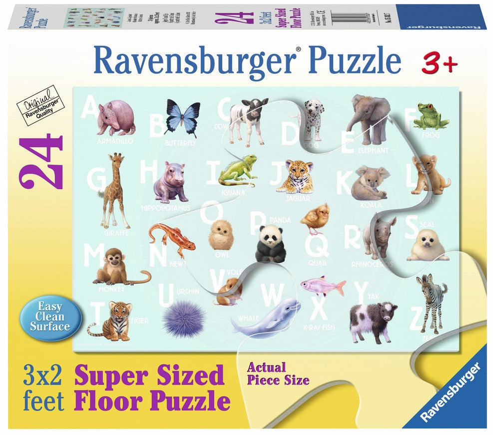 Animal Alphabet 24 Piece Supersized Floor Puzzle, by Ravensburger - Off The Wall Toys and Gifts