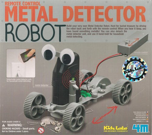 4M Remote Control Metal Detector Robot Kit- Mechanics Science Project