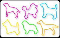 BAG O DOGS4 Glow-in-the-Dark Rubber Band Bracelets 24pk RETIRED - Off The Wall Toys and Gifts