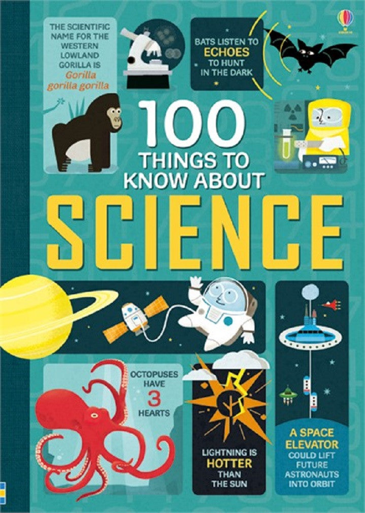 100 Things to Know About Science - Usborne Paperback Book - Off The Wall Toys and Gifts