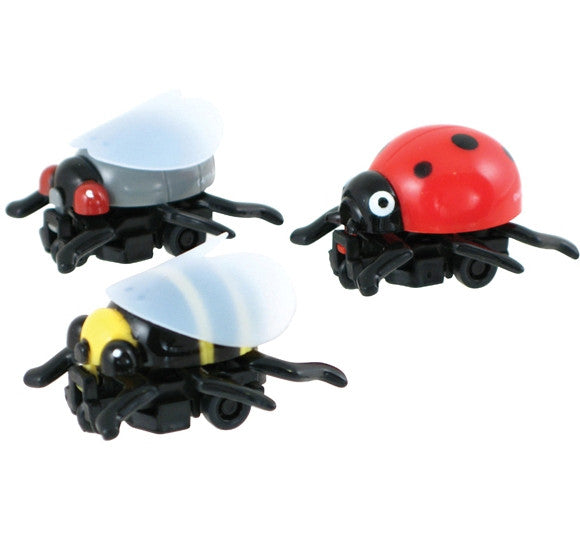 3 Insane Insects Pullback Toys - Bee, Fly, and Ladybug - Off The Wall Toys and Gifts