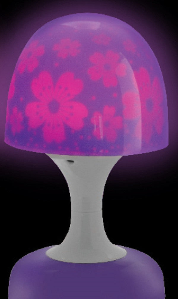 Dreamscape Lamp - Purple Flowers - Battery Operated Light - Off The Wall Toys and Gifts