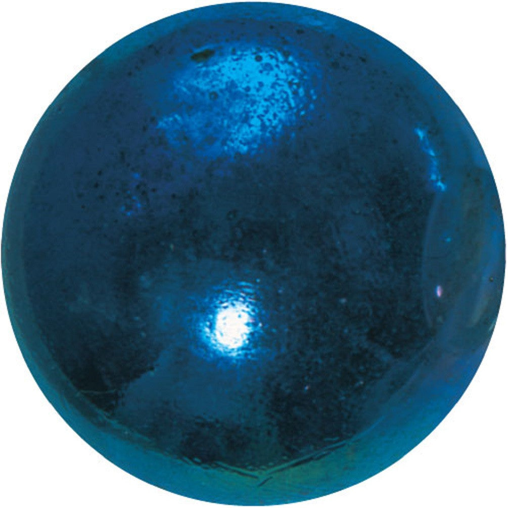 "Enormous Glass ""Lustered Blue"" Marble - 50mm - by House of Marbles"