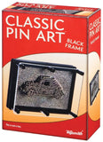 Pin Art in Large Black Frame 3-D Sculpture - Off The Wall Toys and Gifts