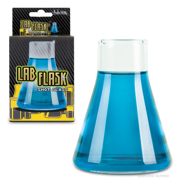 Lab Flask Shot Glass - Novelty Bar-Ware -2 Ounce Capacity - Off The Wall Toys and Gifts