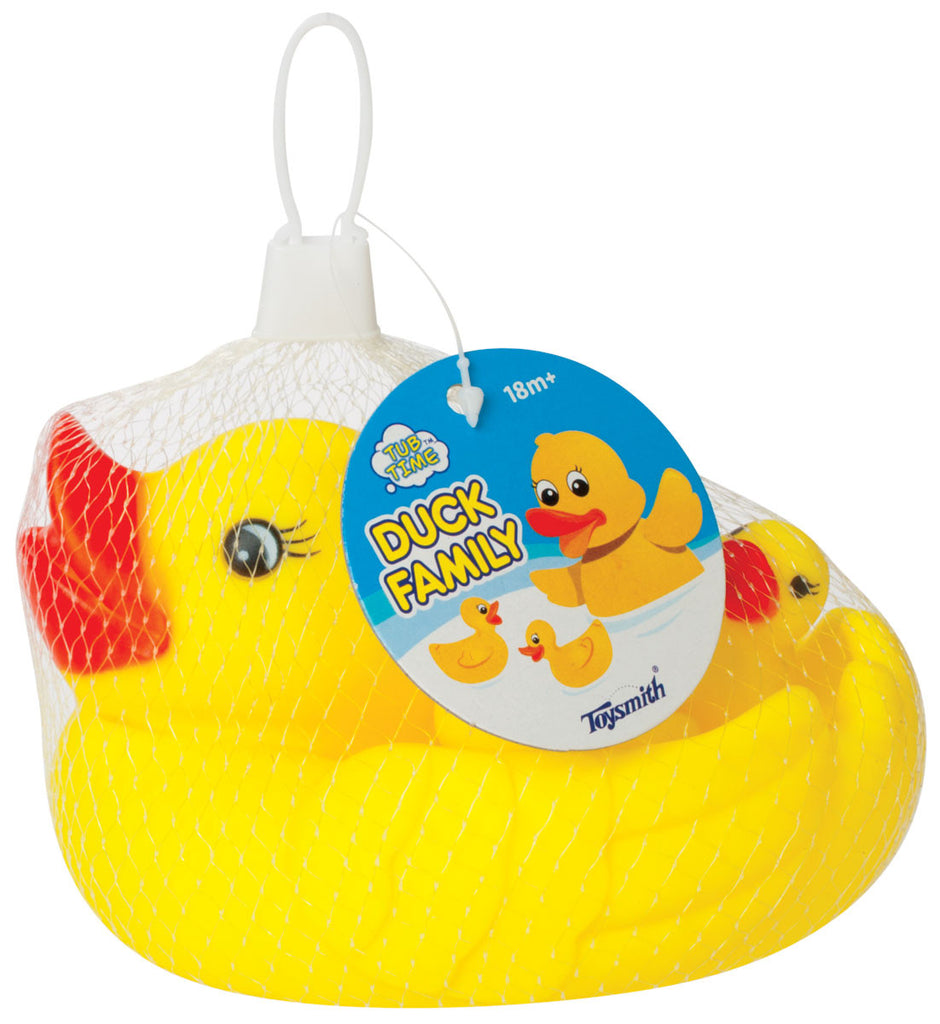 Rubber Duck Family - Set of 4 Ducks - Mom & 3 Babies For Bath Time Fun