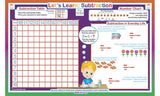 Let's Learn Subtraction - Math Activity Placemat  by Tot Talk - Off The Wall Toys and Gifts