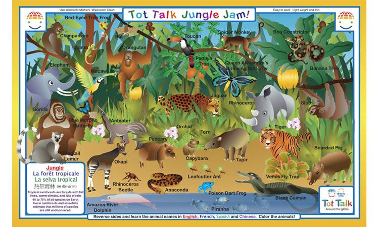 Explore The Jungle - Rainforest Activity Placemat by Tot Talk - Off The Wall Toys and Gifts