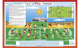 Let's Play Soccer - Sports Activity Placemat  by Tot Talk - Off The Wall Toys and Gifts