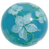 22mm Handmade Art Glass Flower Marbles- Pack of 5 w/Stands Set C Iris Lotus & more - Off The Wall Toys and Gifts