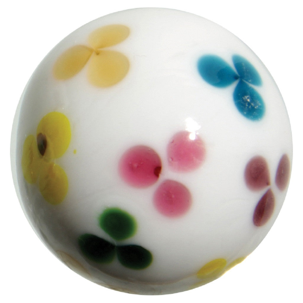 "Glass ""Daisy"" Marble - 22mm - Handmade by House of Marbles - Off The Wall Toys and Gifts"