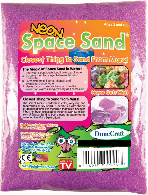 Neon Purple Space Sand: 1lb of Hydrophobic Sand - Off The Wall Toys and Gifts