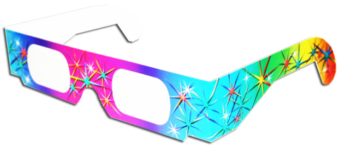 3D Fireworks Glasses Rainbow Pattern Diffraction