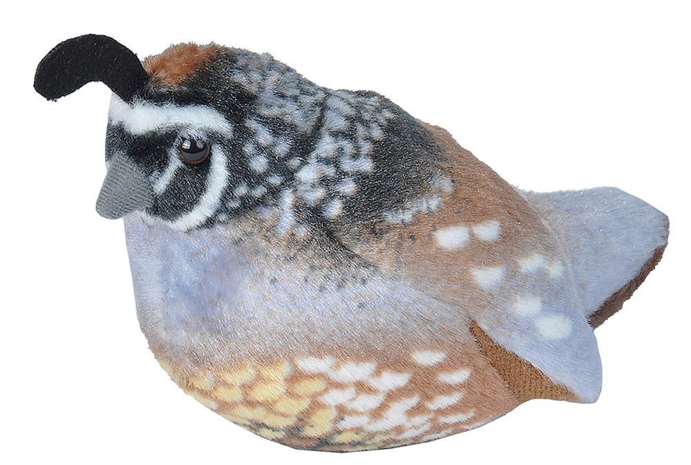 California Quail Audubon II Plush Bird w/Authentic Bird Call Sounds