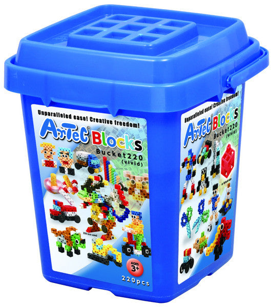 220 Piece Vivid Bucket Artec Blocks - Off The Wall Toys and Gifts