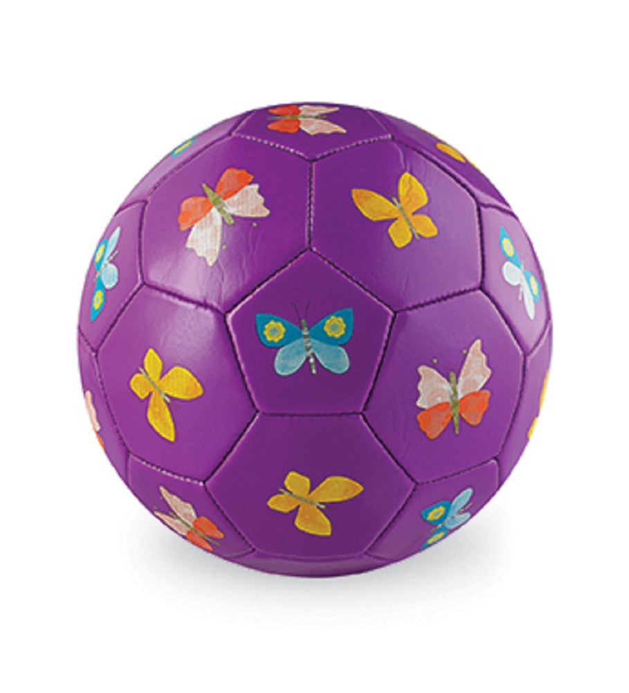 Butterfly Size 3 Soccer Ball Purple - 7.5 Inch Indoor Outdoor Ball with Butterflies