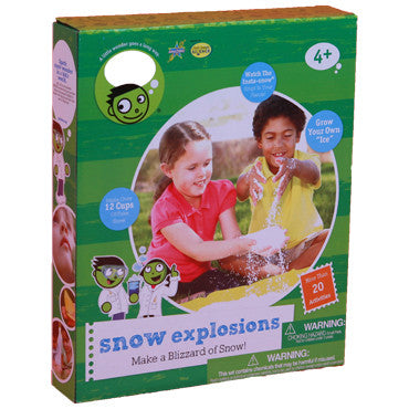 Be Amazing Toys Snow Explosions Science Experiment Kit - A PBS Kids Toy - Off The Wall Toys and Gifts