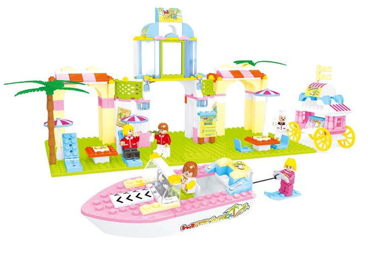 Fairyland Beach Scene BricTek Building Block Set - 323 Pieces - Off The Wall Toys and Gifts