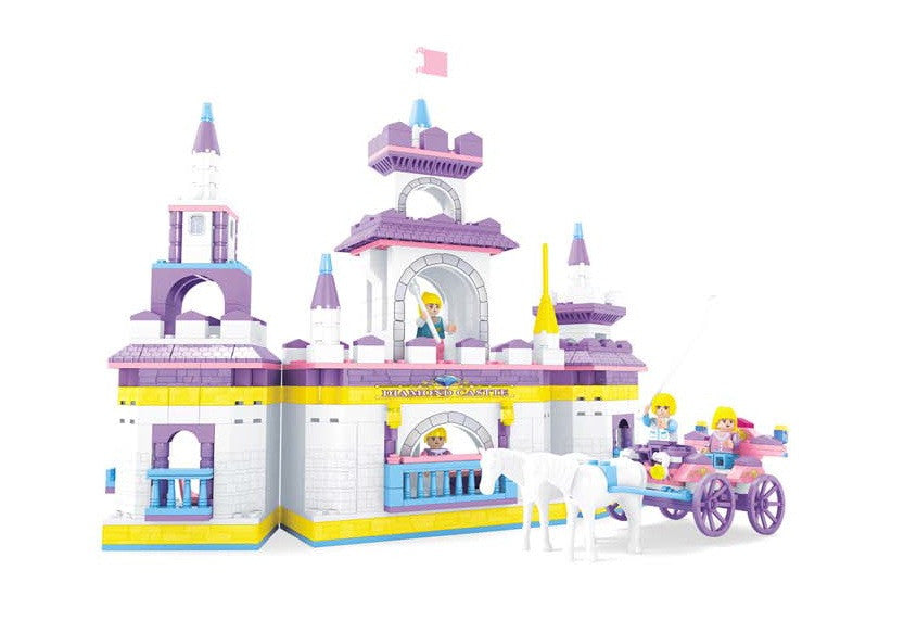 Fairyland Diamond Castle BricTek Building Block Set - 614 Pieces - Off The Wall Toys and Gifts